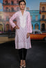 Peach Embroidered Printed Sweet Pea Kurta