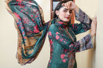 SALE Two Piece: Bottle Green Hanging Gardens Lawn Kurta & Dupatta