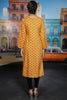 Mustard Printed Kurta with Goldwork