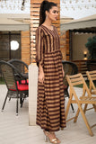 SALE Brown Gold Thebes Printed Maxi