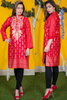 SALE Red Tilla Embroidered Khadr Kurta