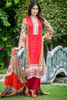 SALE Three Piece: Yellow Daffodil Lawn Kurti with Trousers & Scarf
