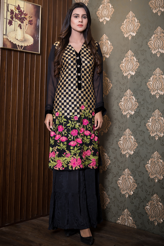 SALE Chiffon Sequin & Embroidery  Kurta