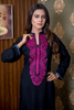 Print & Plain Illusion Kurta with Embroidered Front
