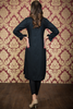 Double Embroidered Black Shirt Kurta