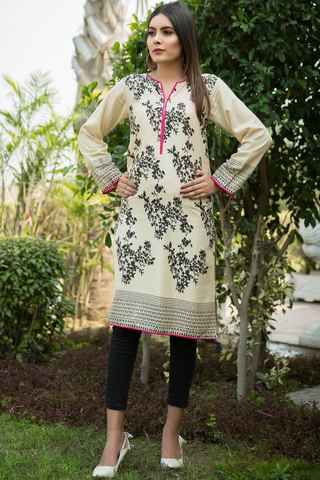 Beige Skin Rainforest Linen Kurta