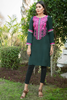Bottle Green Babylon Garden Embroidered Kurta