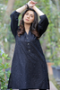 Black Chikan Front Cotton Kurta