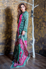 SALE: Two Piece: Lawn Bottle Green & Pink Kurti with Trouser
