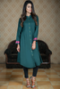 SALE Bottle Green Shirt Kurta with Embroidered Back & Cuff