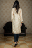 Beige Linen Double Pocket Kurta with Embroidered Cuff