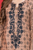 SALE Beige Printed Kurta with Aari Embroidery
