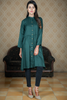 Bottle Green Self Embossed Shirt Kurta