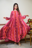 Printed Marina Tiered Orange Pink Maxi