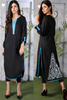 Black Kurti with Tail Embroidery