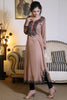 Beige Kurti with Threadwork & Ball Lace - Damak  - 2
