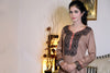 Beige Kurti with Threadwork & Ball Lace - Damak  - 5