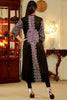 Black Kurti with White & Pink Aari Work - Damak  - 6