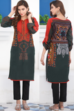 Bottle Green Tribal Cotton Kurta
