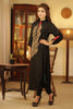 Black Kurti with Beige Embroidery - Damak  - 2