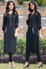 Double Look: Black Zip Kurta with Aari work Embroidery & Zip Pockets
