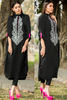 Black Kurta with Grey Embroidery