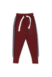 Burgundy Athletic Joggers - Nap Chief