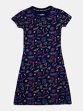 harry potter neon magic nap chief twinning 100% organic cotton relaxed fit dress