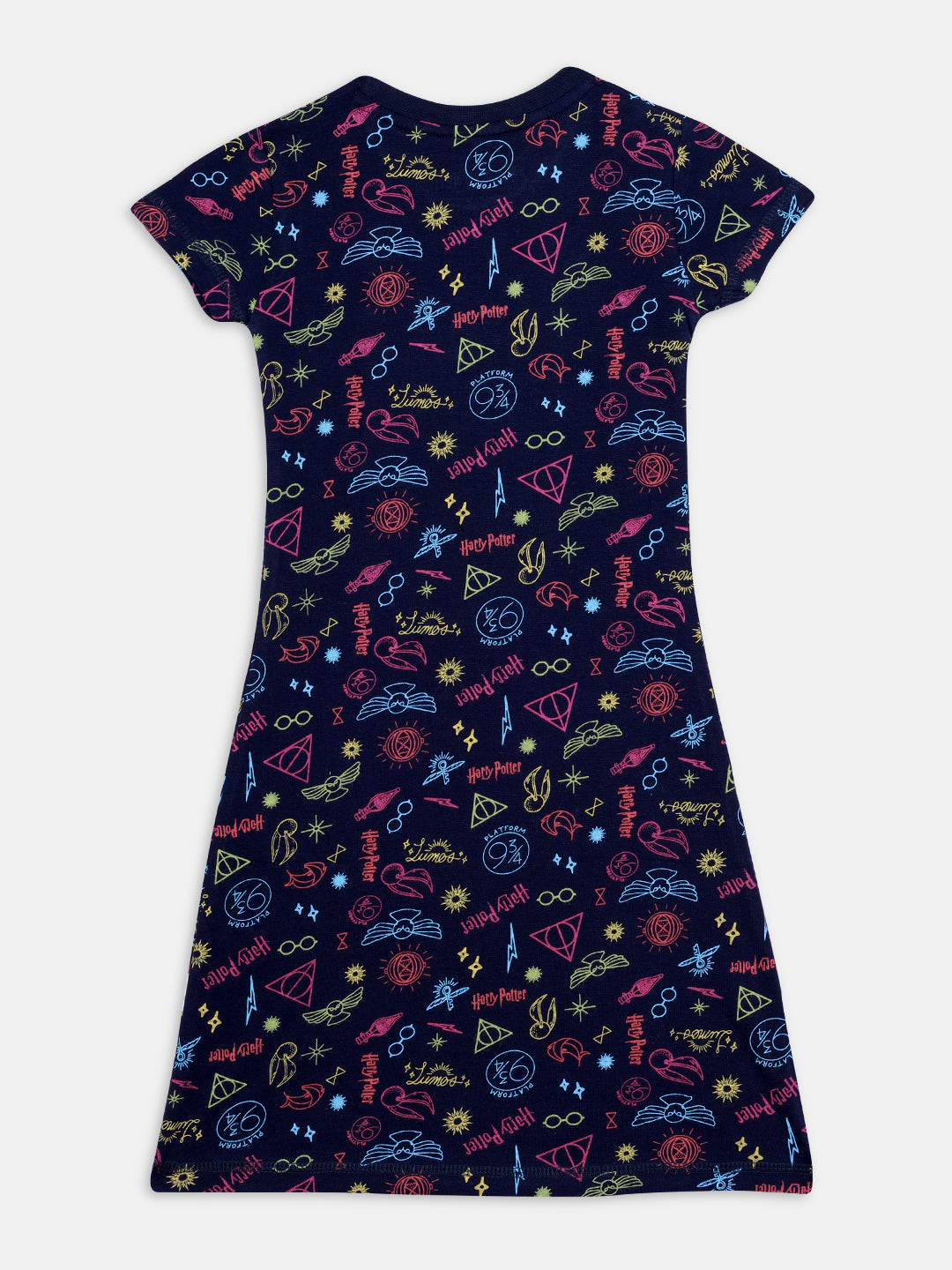 harry potter neon magic nap chief girls 100% organic cotton relaxed fit night wear