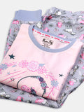 peppa big unicorn nap chief girls 100% organic cotton cozy pajama set