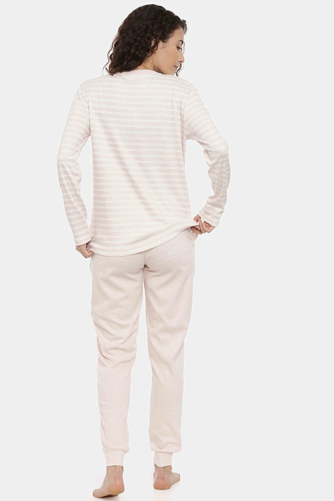 Hello Winter Off white Pajama Set