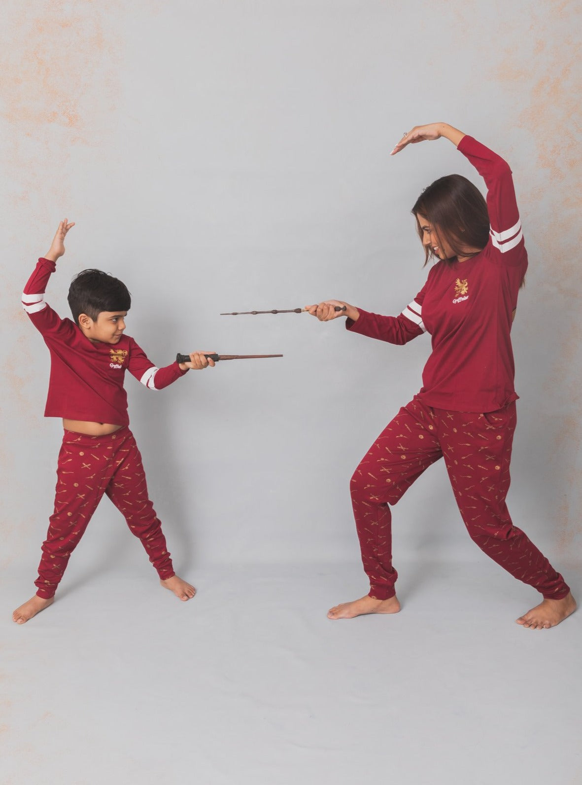 harry potter quidditch nap chief mom daughter twinning son 100% organic cotton cozy pajama set