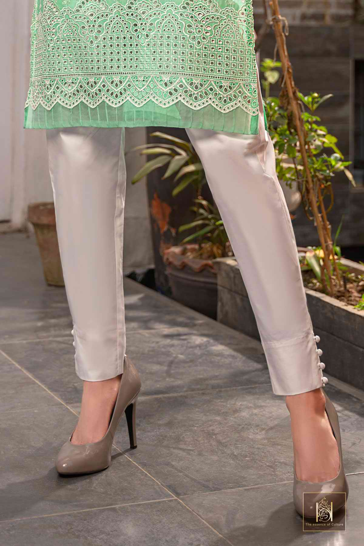 SW4055 - PLAIN BUTTON UP TROUSER