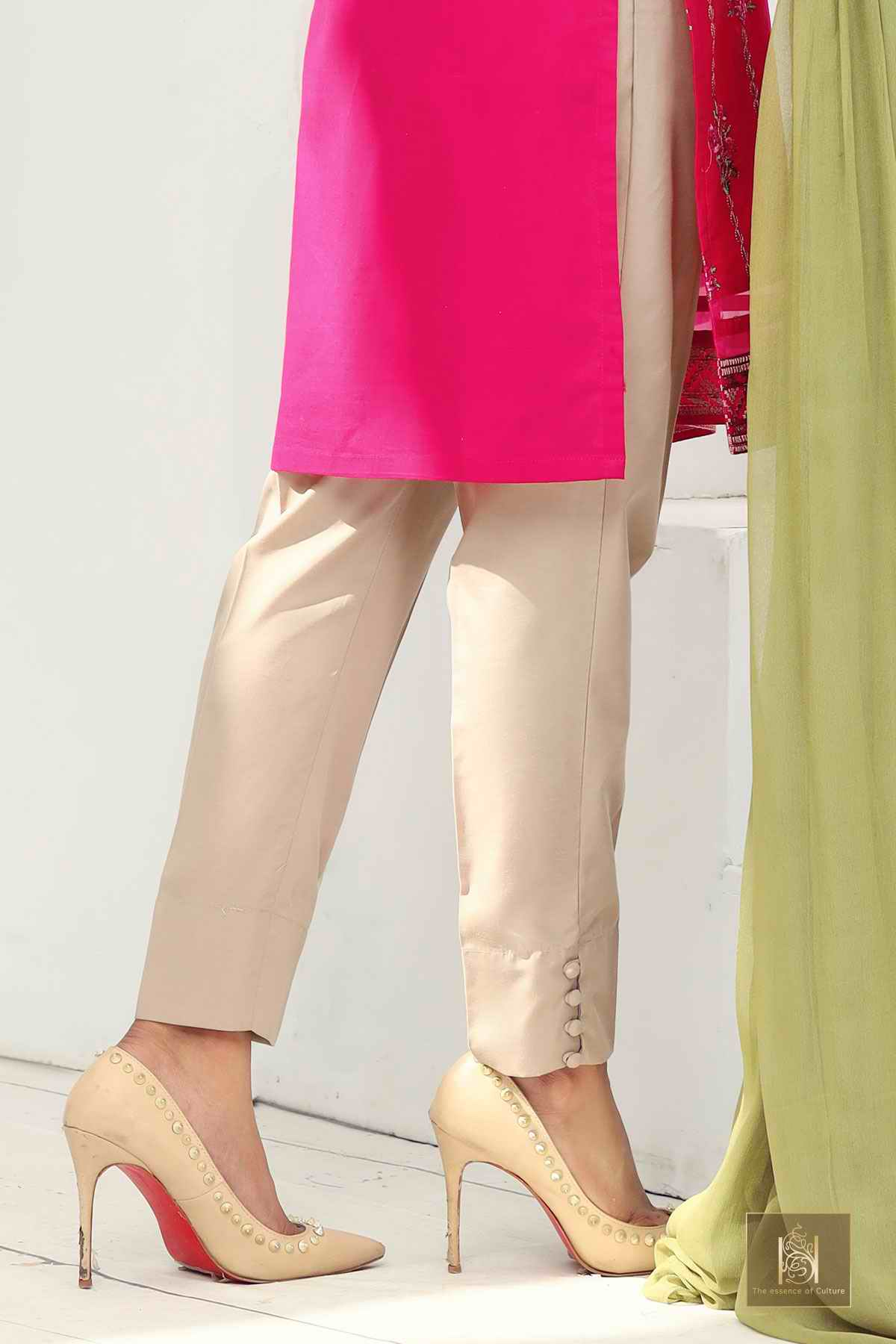 SW4057 - PLAIN BUTTON UP TROUSER