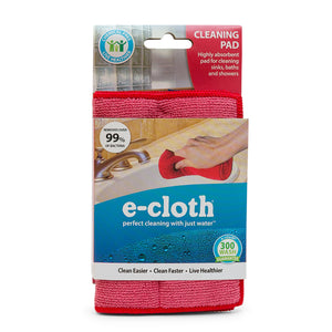 Cleaning Pad - Durable Microfiber Kitchen Sponge Alternative - Red