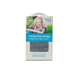 Stroller & Car Seat Cloth - Brilliant Chemical-Free Cleaning for Baby - Premium Microfiber - Just Add Water