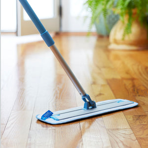 Deep Clean Mop - Original European Microfiber Damp Mop with Sturdy Telescoping Handle
