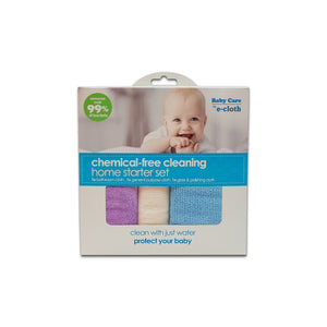 Home Starter Set for Chemical-Free Cleaning with Just Water - 3 Cloth Set