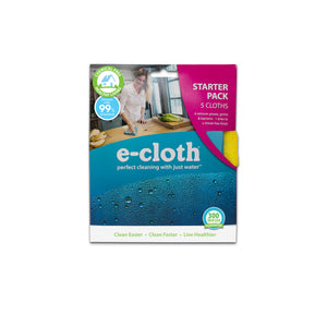 Home Cleaning Starter Pack for Chemical-Free Cleaning with Just Water - 5 Cloth Set