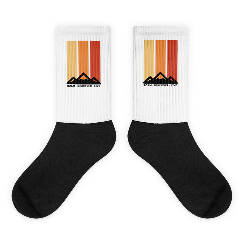 Retro Mountain Socks