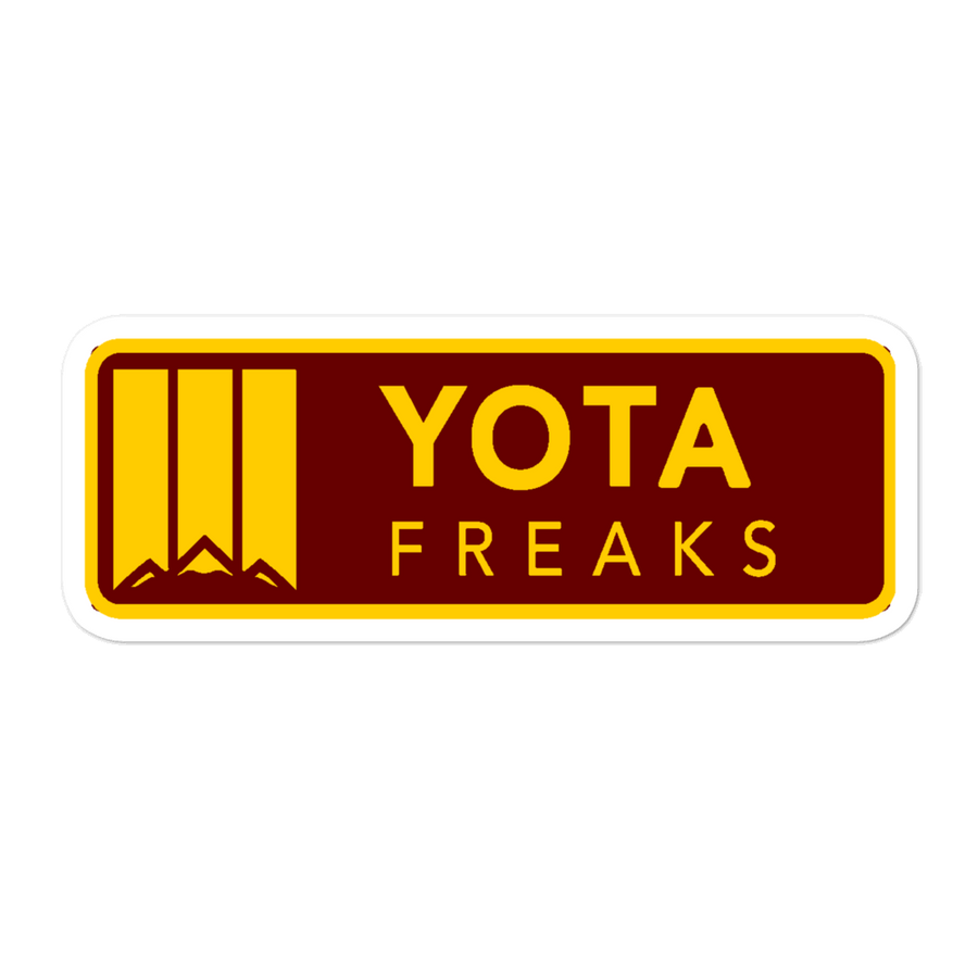 Horizontal Yota Freaks Decal