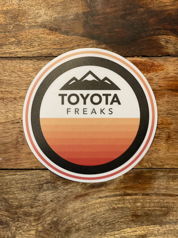 Striped Peak Retro Color Decal