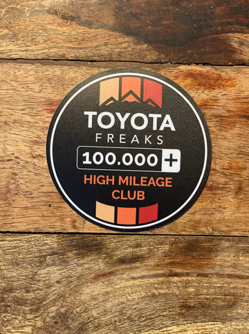 High Mileage Club Color Decal