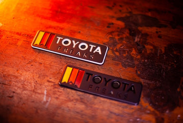 Horizontal Toyota Freaks: Kempter Stainless- Badge
