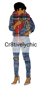 Fall Fashion Doll clipart digital