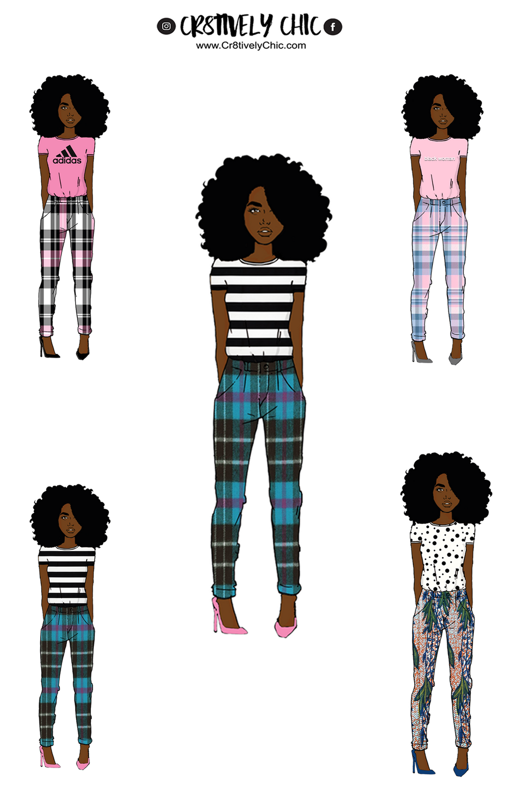 Black Woman Outfits Doll