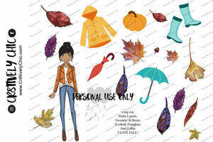 Printable Fall Leaves deco sheet