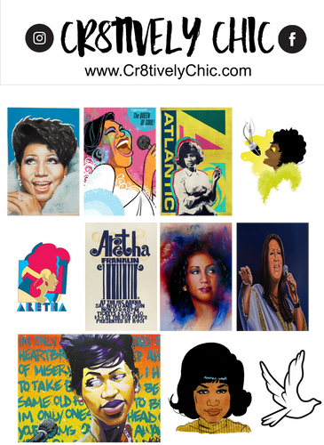 Aretha Franklin Stickers digital