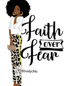 Faith Over Fear  clipart digital