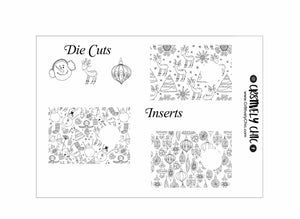 Black and White B6 Insert Covers and die cuts digital